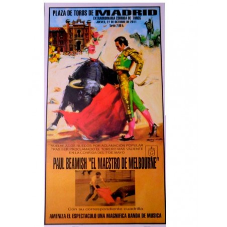 Bullfight Poster with name and Photo