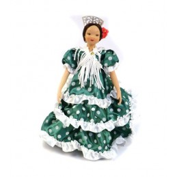 Muñeca decoración sevillana de porcelana