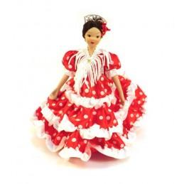 Flamenco dancer porcelain dolls