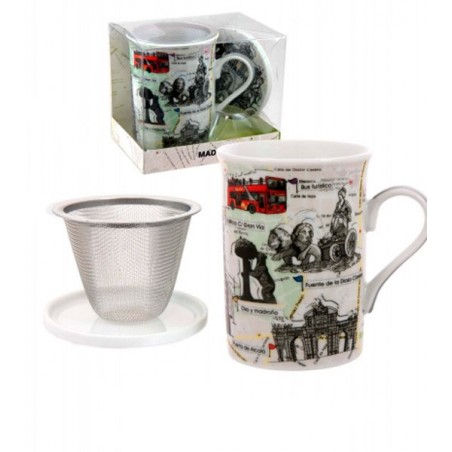 """Tea cup with strainer """"Madrid"""" collection"""