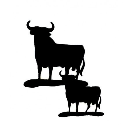 Toro de Osborne metal silhouette