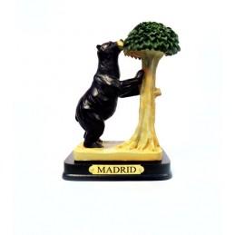 Figura del oso y el madroño color negro