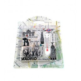 Madrid thermometer magnet