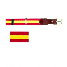 Spain flag elastic belt for man