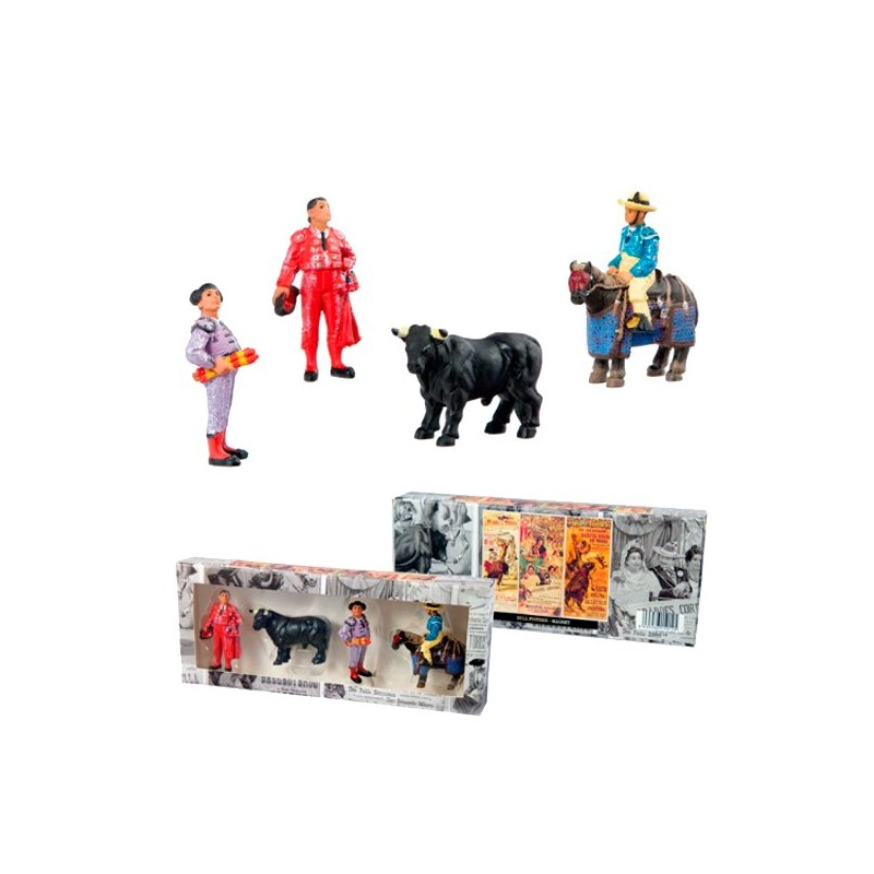 Set of four bullfighting magnets