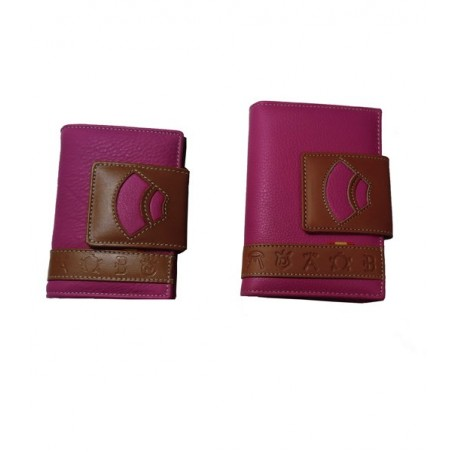 Women leather wallet, Capote and herds Irons
