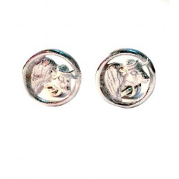 "Bullfighting silver cufflinks ""bull's head"""