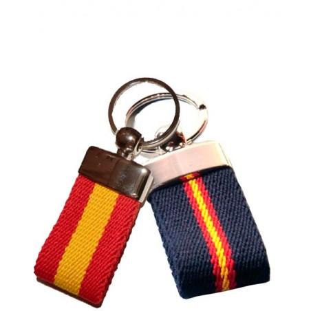Llaveros cinturón con bandera de España