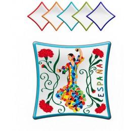 "Assiette ""Flamenca"" Olé Mosaic"