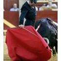Professional bullfighting muleta with the estaquillador