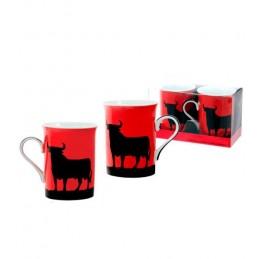 Toro de Osborne set of two mugs