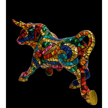 """Descarao"" Mosaic multicolored bull from Barcino"