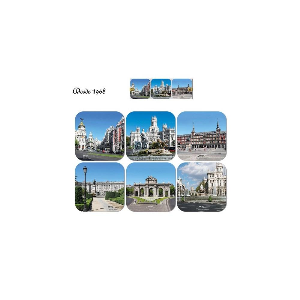 Monuments of Madrid coasters
