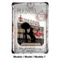 """Placas metálicas """"Madrid"""""""