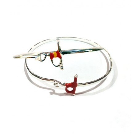 Bullfighting bracelets with estoque and Spanish flag
