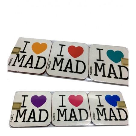"""""""I love Madrid"""" Coasters"""